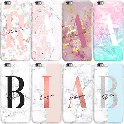 Initials Phone Case Personalised Marble Name Hard Cover For Samsung J1 J3 J5 J7