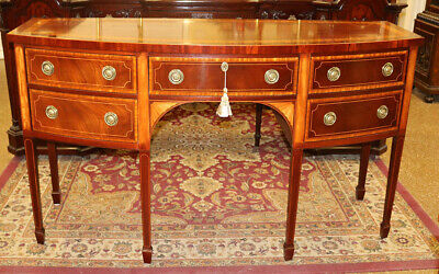 MINT Baker Charleston Collection Banded Mahogany Sideboard Server Buffet WOW!