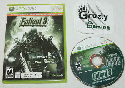 USED Fallout 3 Add-on Broken Steel and Point Lookout Microsoft XBOX 360