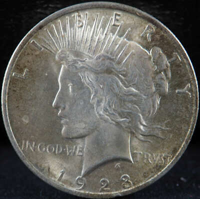1923 P Peace Silver Dollar About Uncirculated (AU) - SKU 279US