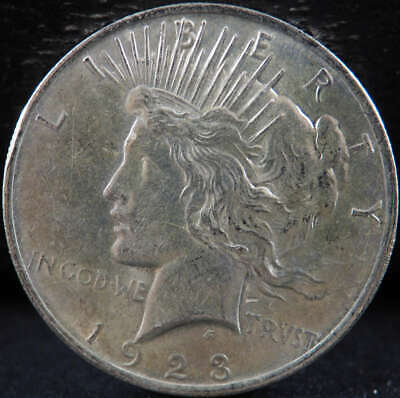 1923 P Peace Silver Dollar About Uncirculated (AU) - SKU 282US