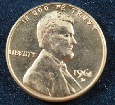 1961 D Lincoln Memorial Cent Penny (BU) Brilliant Uncirculated US Coin