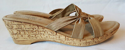 43d789b6f8ef Ladies 11M Beige Tan Neutral Tone Slide Wedge Sandal Easy Street Tuscany