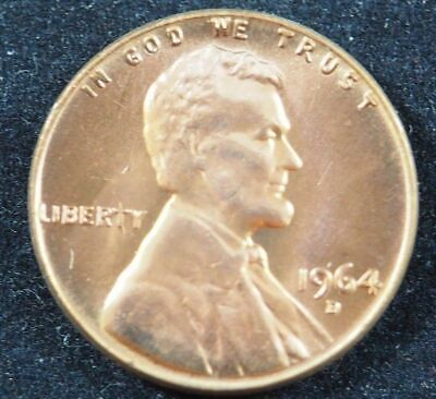 1964 D Lincoln Memorial Cent Penny (BU) Brilliant Uncirculated US Coin