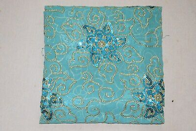 Decorative Indian Wedding Dupatta Scarf Sequins Embroidery Georgette Veil L""