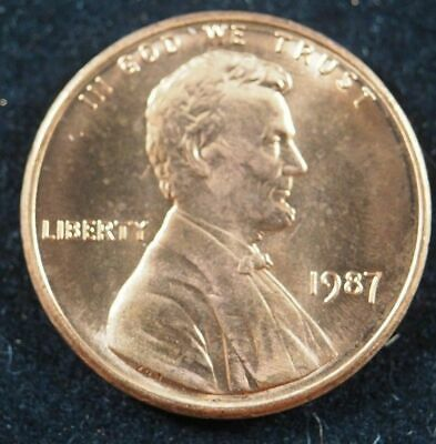 1987 P Lincoln Memorial Cent Penny (BU) Brilliant Uncirculated US Coin