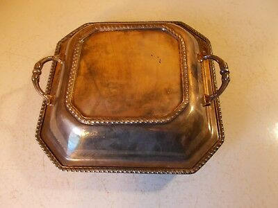 Sheffield Silver Co Vintage Authentic Serving Tray With Lid