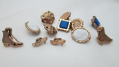 """10 Vintage Victorian Lady Silhouette 1.75/"""" Oval Cabochon Gold Brooch//Charm B30"""