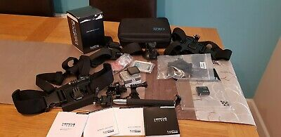 GoPro Hero 4 Camcorder Silver with lots of accessories Excellent condition boxed
