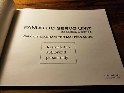 GE FANUC DC Servo Unit M, L series Circuit Diagram For ... on