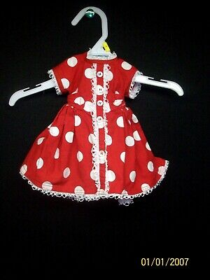 Red and White Polka Dot Dress Fits 18 inch American Girl Doll, Outfit, Clothes