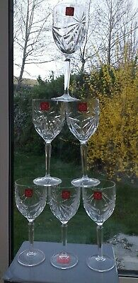 Set of 6x RCR Italian Crystal Oasis Wine Glass 230ml -In Gift/with Box.