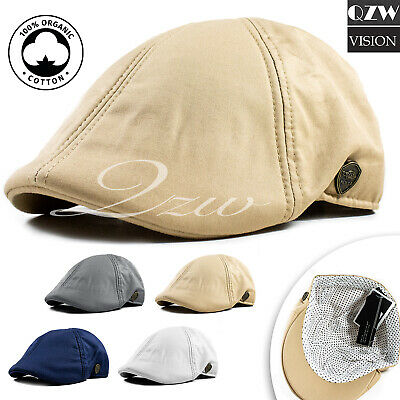 18dcc3569d8 Solid Cotton Gatsby Cap Mens Ivy Hat Golf Driving Summer Sun Flat Cabbie  Newsboy