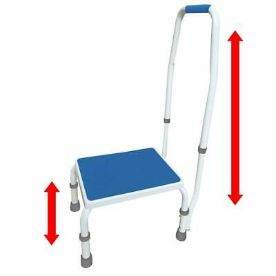 AdjustaStep(tm) Deluxe Step Stool/Footstool with Handle/Handrail, Height Adjusta