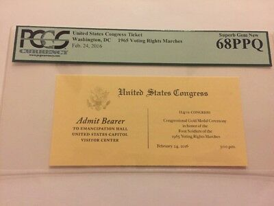 2016 Emancipation Hall Ticket Congressional Gold Medal Voting Rights March PCGS