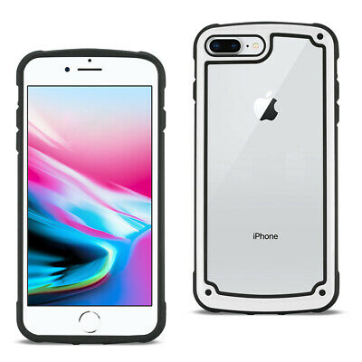 APPLE IPHONE 8 PLUS Heavy Duty Rugged Shockproof Full Body Case In White/Clear