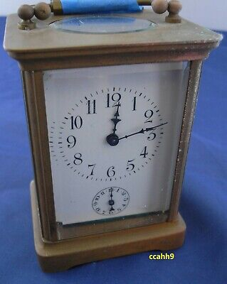 "cchh, Antique French 6 "" Carriage Clock, w/Alarm nice, running, Parts/repair"