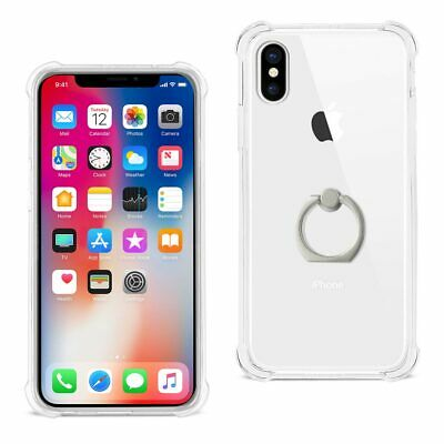 iPhone X/iPhone XS Transparent Air Cushion Protector Bumper Case Ring Holder