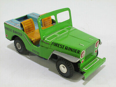 Yone Japan, Forest Ranger JEEP, Friktion, 20 cm tolles Litho sehr guter Zustand