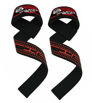 Gel Padded Weight Lifting Straps Training Gym Hand Bar Wrist Support Gloves Wrap