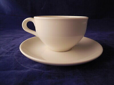 Iroquois Russel Wright Casual Dinnerware White 6  Cup & Saucer Sets