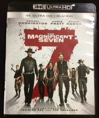 The Magnificent Seven 4K ULTRA HD + Blu-Ray   FREE SHIPPING!!!