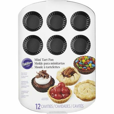 Wilton 12 Cavity Mini Tart Pan/ Mini Pie/ Canapes / Flan Baking Tray