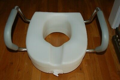 Toilet Seat raised with handles Portable Mobility adult potty seat chair