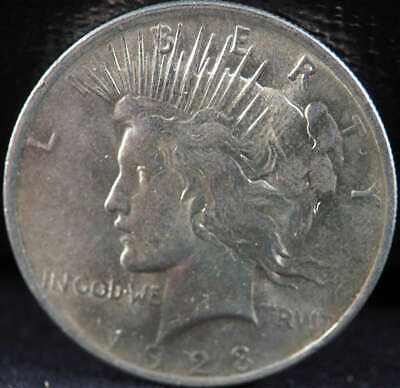 1923 P Peace Silver Dollar About Uncirculated (AU) - SKU 265US