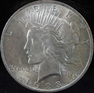 1923 P Peace Silver Dollar About Uncirculated (AU) - SKU 270US