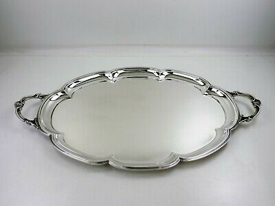 Fabulous quality large & heavy octofoil SILVER TEA TRAY, Sheffield 1968, 2900gr