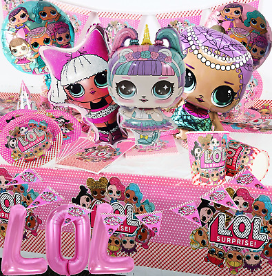 Lol Surprise Doll Banner Cupcake Topper Supplies Party Balloon Table