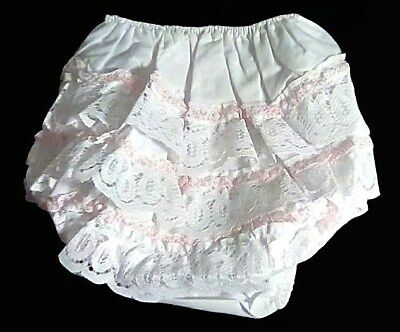 Vintage Wellowear Super Frilly Girls Baby Soft Pants Nappy Diaper Cover L Bnip