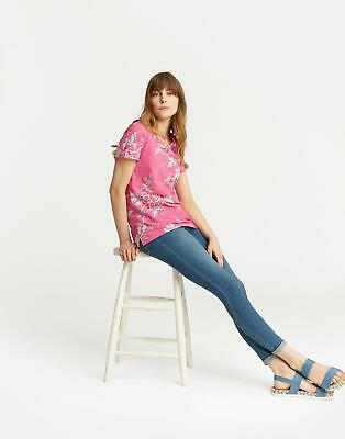 Joules Nessa Printed Jersey T shirt 10 in Bright Pink Chinoise Size 10
