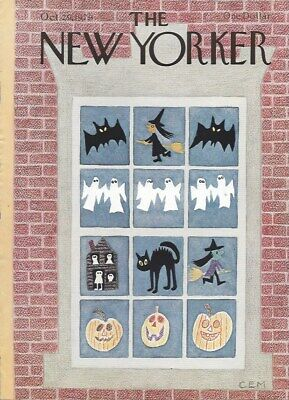 COVER ONLY New Yorker magazine ~ MARTIN ~October 29 1979 ~ Halloween Cat Witch
