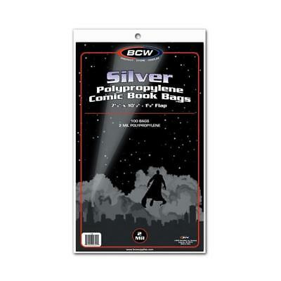 1000 NEW Acid Free BCW SILVER Comic Book Bags FREE SHIP