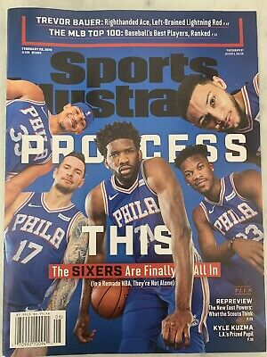 """Sports Illustrated 2019 Philadelphia 76ers """"Process This"""" NEWSTAND February 25"""