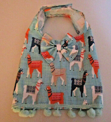 S unisex Dog vest [Llama, bow tie] cotton handmade
