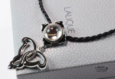 Lalique Irene Byzantine Cabochon Crystal 925 Sterling Silver Necklace Pendant