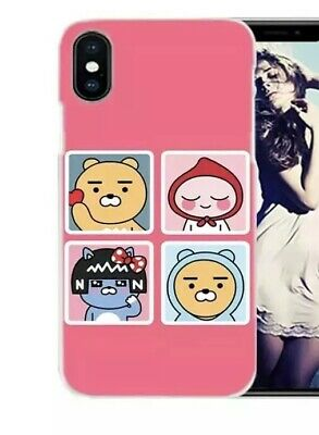the best attitude bbf22 b87c7 KAKAO FRIENDS RYAN Apeach Iphone X Phone Case Cute Pink
