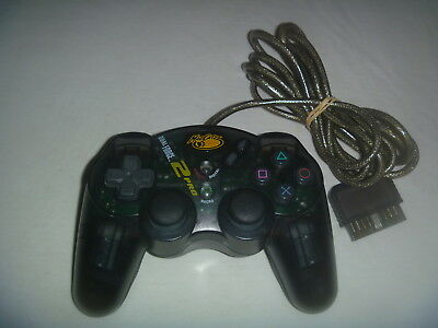 MadCatz Dual Force Pro Sony Playstation 2 PS2 Dual Shock Wired Controller Black