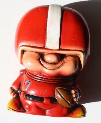 Football Player Bank-Vintage Hand Painted Made in Japan Ceramic Comic-Cartoon