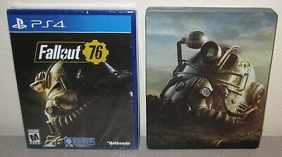 FALLOUT 76 Sealed NEW PlayStation 4 Day 1 1st Printing w/Steelbook Bethesda PS4