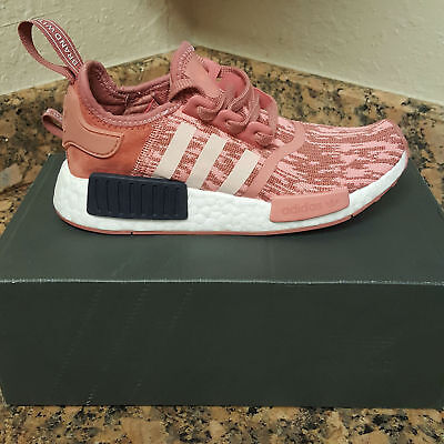 dac7fa9ac18e5 Adidas NMD R1 Runner W Nomad Women s Raw Pink Trace Legend Ink 3M Stripe  BY9648