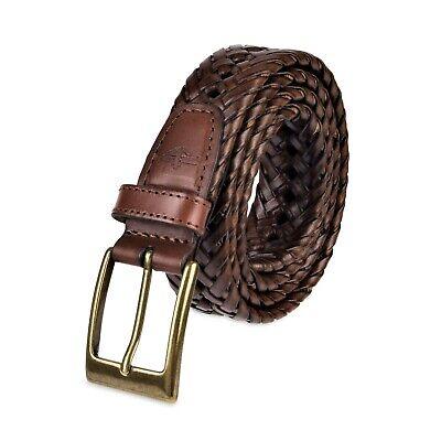 Dockers Mens 1 3/16 Inches Faux Leather Braided Belt