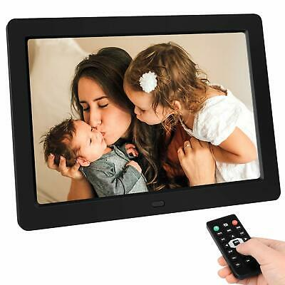 "TENSWALL 10"" Digital Photo Frame Full IPS Viewer USB/SD Video Remote Control"