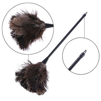 Ostrich Duster Feather Dusters with Long Plastic Handle Cleaning Brush Tool