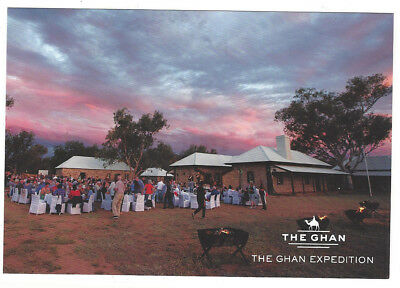 POSTCARD The Ghan expedition  2000's  dinner Telegraph Station Alice Springs
