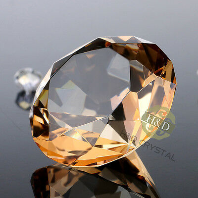 Crystal Paperweights Cut Glass Diamond Shaped Jewel Decor Gifts Ornament 40mm