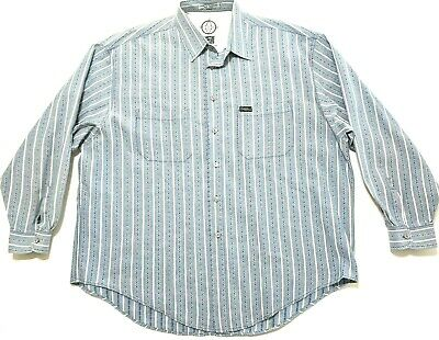 New Vtg Marithe Francois Girbaud Jeans Mens Shirt Button Down Long Sleeve M L XL
